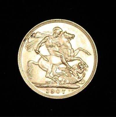 1907 GOLD SOVEREIGN KING EDWARD VII COIN