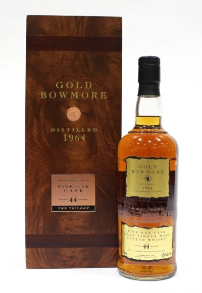 Bowmore 1964 Gold Bowmore – 44 Year Old | Sold for $ 17,550, June 2020