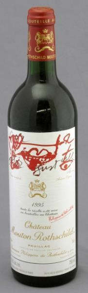 Chateau Mouton Rothschild – 1995 2 bottles Pauillac - 1er Cru Classe | Sold for $ 747.50, December 2010