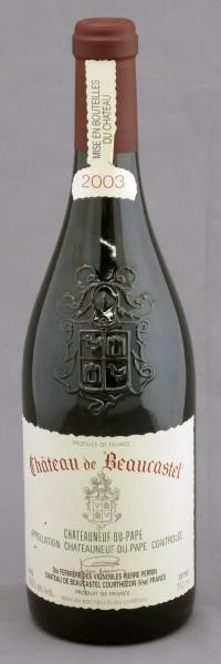 Chateau de Beaucastel - 2003 6 bottles  Chateauneuf-du-Pape | Sold for $ 437, December 2010
