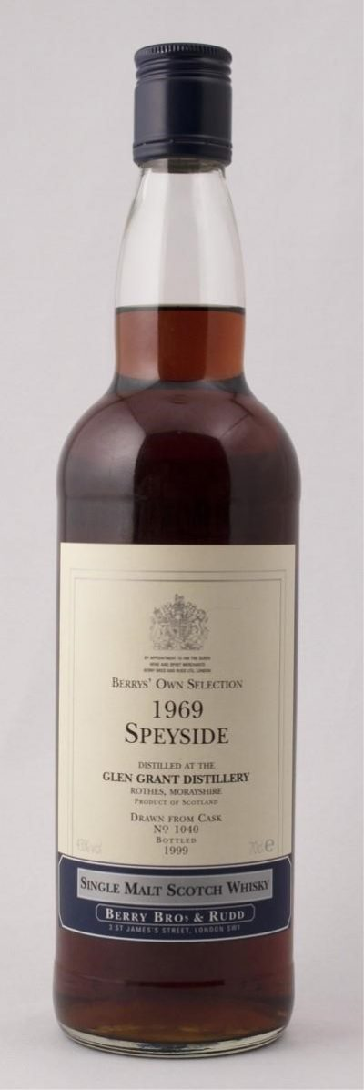 1969 Glen Grant – 30 Year Old | Sold for $ 1,020, September 2019