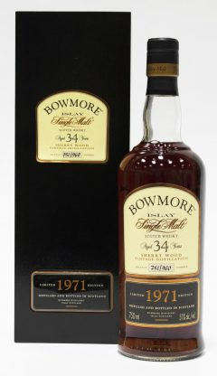 Bowmore 1971 Sherry Wood 34 Year Old