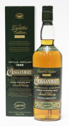 Cragganmore 1986, Distillers Edition