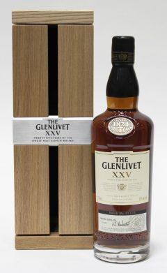 Glenlivet XXV Wood Cabinet, 25 Year Old