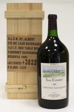 1990 Las Condes Reserve Cabernet Sauvignon