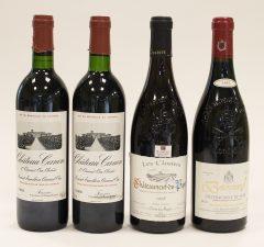 """1989 Chateau Canon (2 bottles) 1998 Caves des Papes """"Les Closiers"""" Chateauneuf-du-Pape (1)"""