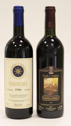 1996 Tenuta San Guido Bolgheri Sassicaia 1996 (1) 1994 Castello Banfi Brunello Di Montalcino (1)