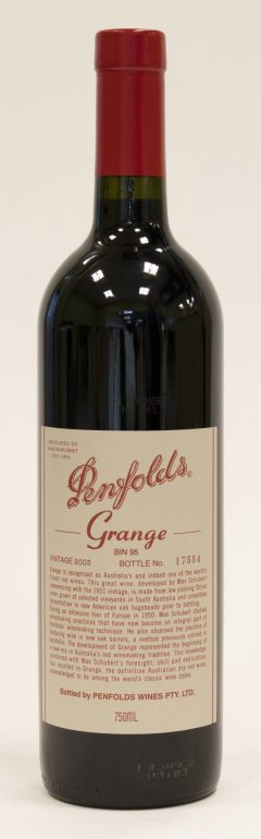 "2001 Penfolds ""Grange"" Shiraz South Australia"