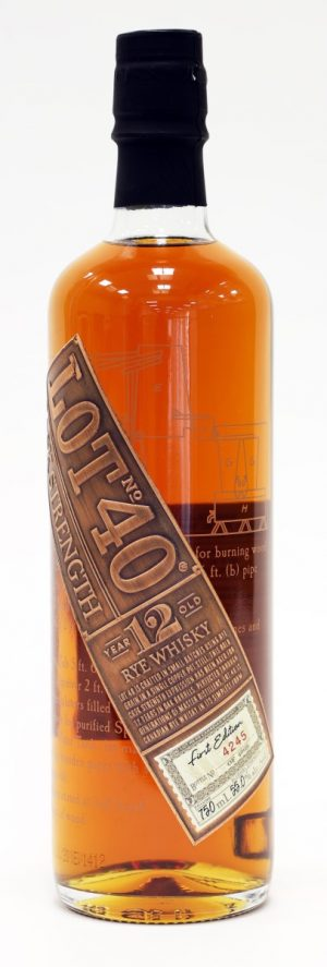 Lot 40 Cask Strength Rye 12 Year Old