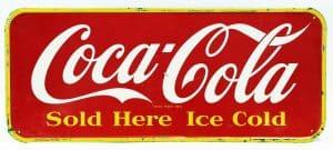 1950s COCA-COLA ADVERTISING SIGN