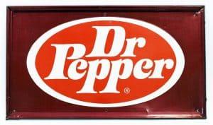 DR PEPPER ADVERTISING SIGN