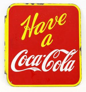 1940s COCA-COLA ADVERTISING SIGN