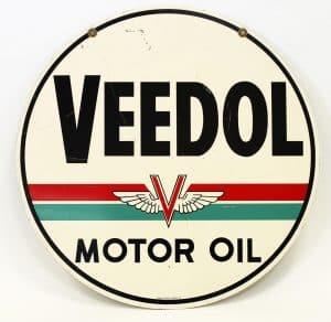 VEEDOL MOTOL OIL ADVERTISING SIGN