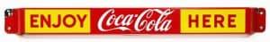 1950s COCA-COLA ADVERTISING DOOR PUSH / DOOR BAR
