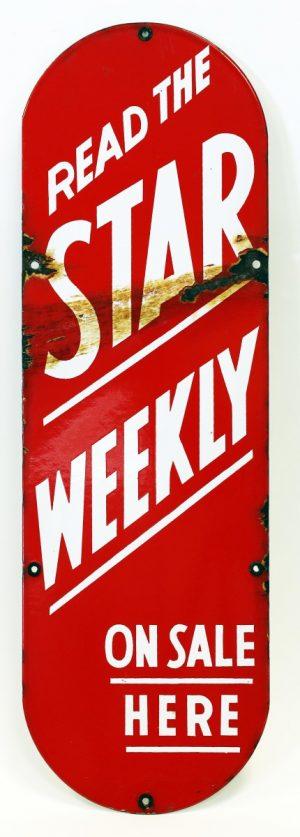 STAR WEEKLY ADVERTISING PALM PRESS/DOOR PUSH PLATE