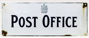 """CANADIAN """"POST OFFICE' ADVERTISING SIGN"""
