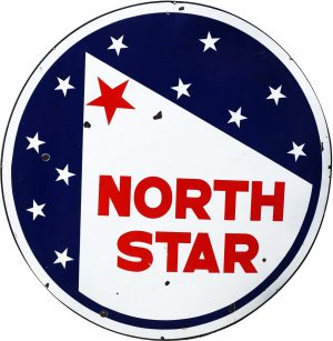 NORTH STAR DOUBLE-SIDED DEALER SIGN