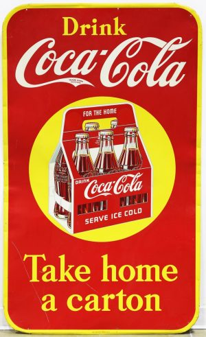COCA-COLA 'SIX PACK' ADVERTISING SIGN