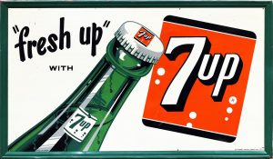 7UP 'FRESH UP' ADVERTISING SIGN