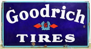GOODRICH TIRES ADVERTISING SIGN