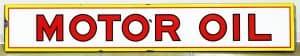 EN-AR-CO 'WHITE ROSE' MOTOR OIL ADVERTISING SIGN