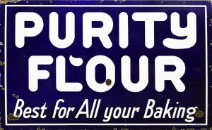 PURITY FLOUR ADVERTISING SIGN
