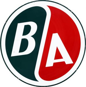 B/A BRITISH AMERICAN ADVERTISING SIGN