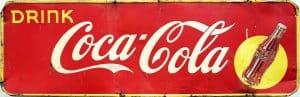 1940s COCA-COLA ADVERTSING SIGN