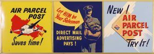 AIR PARCEL POST ADVERTISING SIGNS