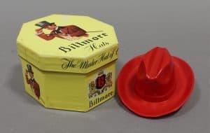 VINTAGE BILTMORE MINIATURE HAT AND HAT BOX, SALESMAN SAMPLE