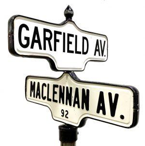 CITY OF TORONTO, ANTIQUE PORCELAIN STREET SIGNS