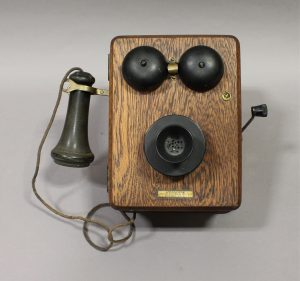 VINTAGE KELLOGG WALL TELEPHONE
