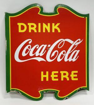 1930s COCA-COLA ADVERTISING SIGN