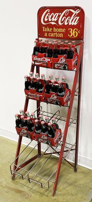 COCA-COLA ADVERTISING CARTON DISPLAY STAND