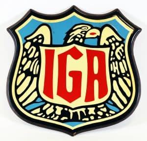 1930s IGA ADVERTISING SIGN