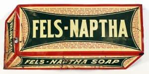 FELS-NAPTHA DIE-CUT ADVERTISING SIGN