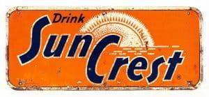 SUN CREST SODA ADVERTISING SIGN