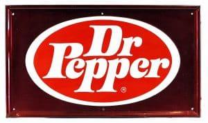 DR. PEPPER ADVERTISING SIGN