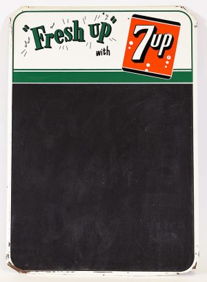 7UP ADVERTISING CHALKBOARD SIGN
