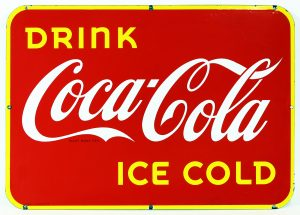COCAL-COLA ADVERTISING SIGN
