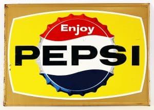 PEPSI-COLA BOTTLECAP ADVERTISING SIGN