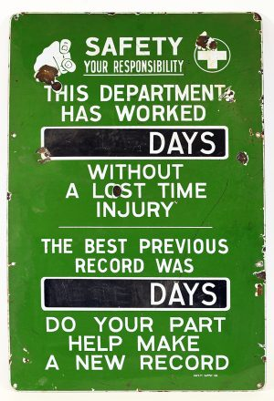 SAFETY DEPARTMENT SIGN