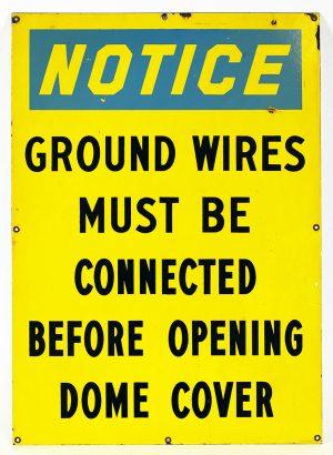 HIGH-VOLATAGE WARNING SIGN