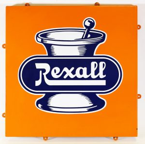 REXALL DRUGS ADVERTISING SIGN