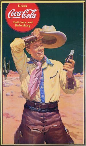 1941 COCA-COLA CARDBOARD ADVERTISING SIGN