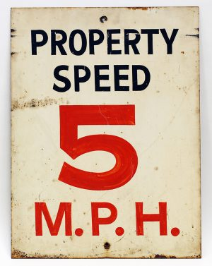 HAND-PAINTED SPEED SIGN