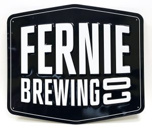 CONTEMPORARY ADVERTISING SIGN - FERNIE BREWING CO.