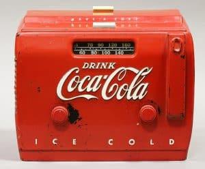 1950s COCA-COLA ADVERTISING COUNTERTOP RADIO