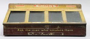 SIMON'S HAVANA CIGARS ADVERTISING COUNTER HUMIDOR