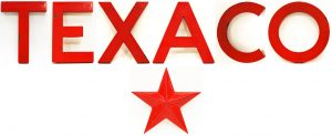 TEXACO GAS STATION SIGN LETTERS